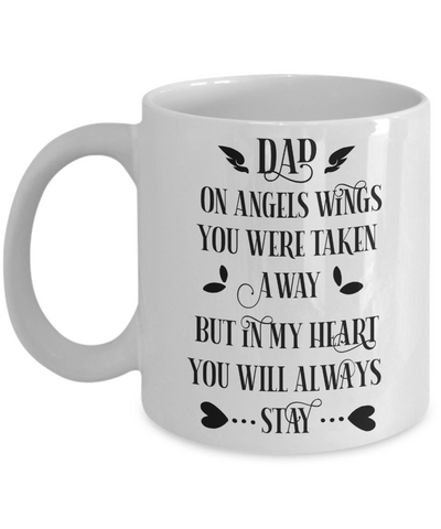Dad Angel Memorial Mug Gift in Loving Memory Remembrance Coffee Cup