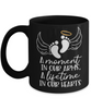 Baby Memorial Gift Black Mug A Moment in Our Arms a Lifetime in Our Hearts Sympathy Condolence Keepsake Cup