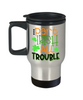 Part Irish All Trouble Travel Mug Gift Funny Novelty Coffee Cup