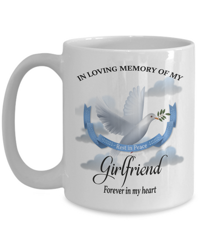 Girlfriend Memorial Remembrance Mug Forever in My Heart In Loving Memory Bereavement Gift for Support and Strength Coffee Cup