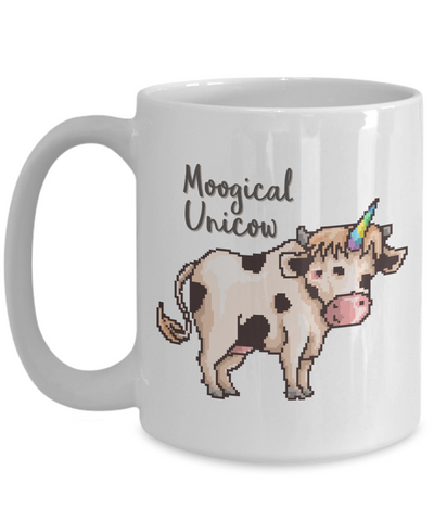 Moogical Unicow Mug Cow Animal Lover Novelty Birthday Christmas Humor Quote Gifts Unique Work Ceramic Coffee Gifts for Men Women