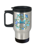 Aunt Butterfly Travel Mug Beautiful Blue Butterflies Auntie Coffee Cup