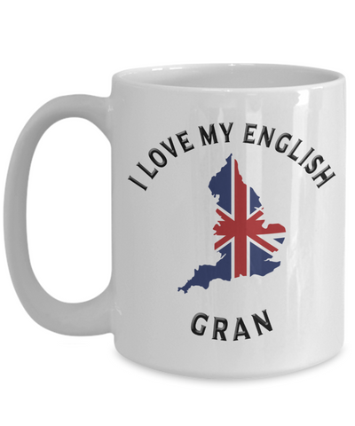 Image of I Love My English Gran Mug Novelty Birthday Gift Ceramic Coffee Cup