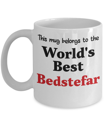 World's Best Bedstefar Mug Family Gift Danish Grandfather Novelty Birthday Thank You Appreciation Ceramic Coffee Cup