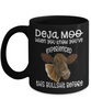 Deja Moo Cow Black Mug Gift You've Experienced This Bullshit Before Novelty Coffee Cup
