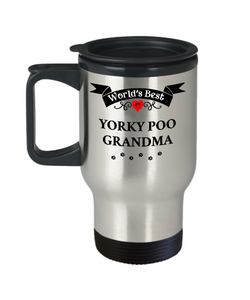 World's Best Yorkie Poo Grandma Dog Cup Unique Yorkshire Terrier Travel Coffee Mug