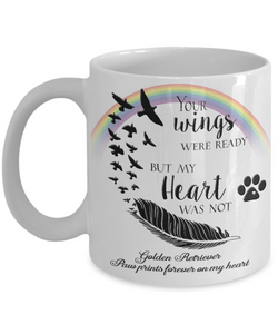 Golden Retriever  Bereavement Memorial Gifts Your Wings Were Ready...