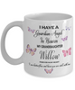 Guardian Angel in Heaven My Granddaughter Willow Memorial Butterfly Mug Sympathy Remembrance Mourning Cup