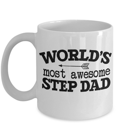 World's Awesome Step Dad Mug Gift Novelty Birthday Appreciation Coffee Cup