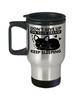 Don't Give Up On Your Dream Keep Sleeping Cat Travel Mug Gift Funny Humor Quote Novelty Cup