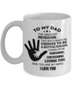 Love You Dad Mug Gift for Father's Day Birthday My Hero Coffee Cup