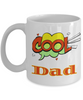 Cool Dad Mug Unique Novelty Birthday Christmas Gifts Ceramic Coffee Cup Gifts