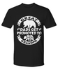 Great Dads Get Promoted to Grandpa Black Shirt New Baby Bear Birth Announcement 6 Colors T-Shirt