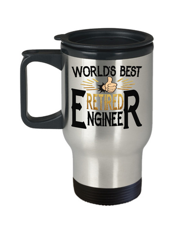 World's Best Retired Engineer Travel Mug Gift Retirement Appreciation Occupation Cup