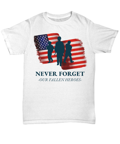 United States Fallen Veteran Heroes Shirt Gift Never Forget Grateful Appreciation T-Shirt