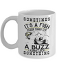 Fishing Buzz Catch Something Mug Gift For Fisher Addict Novelty Hobby Coffee Cup