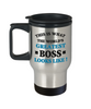 World's Greatest Boss Travel Mug Gift Employer's Day Appreciation Coffee Cup