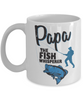 Papa The Fish Whisperer Mug Gift for Dad Grandpa Fishing Addict Cup