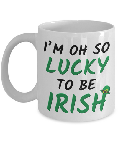 Lucky To Be Irish Love You Mug St Patrick's Day Gift Ireland Paddy's Novelty Cup