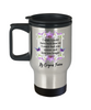 Fiancee Turn Back Time Orchid Butterfly Coffee Travel Mug Gift Love You Longer Cup