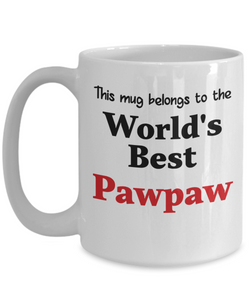 World's Best Pawpaw Mug Family Gift Novelty Birthday Thank You Appreciation Ceramic Coffee Cup