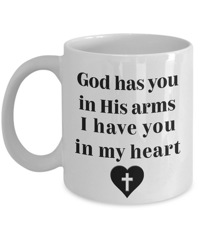 Image of Memorial Gift God Has You In His Arms... Remembrance Gifts for Men