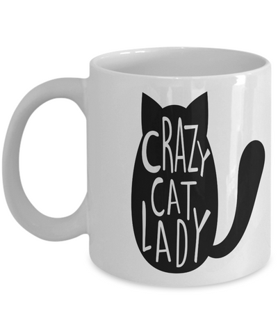 Cat Enthusiast Gift Crazy Cat Lady Cup Funny Cat Coffee Mug Gift for Cat Lovers
