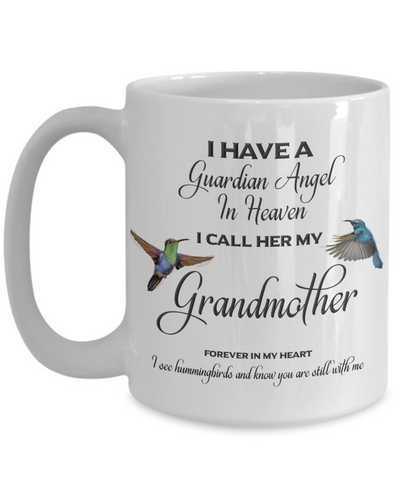 Image of Grandma Memorial Gift I Have a Guardian Angel in Heaven  Grandmother Granny Remembrance Gifts