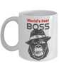 Funny Mafia Boss Gorilla Mug Gift Best Employer Day Birthday Novelty Coffee Cup