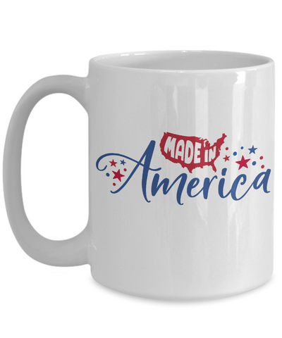 Made in America Patriotic Mug Ceramic Coffee Cup