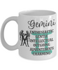 Gemini Zodiac Mug Gift Fun Novelty Birthday Coffee Cup