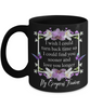 Fiancee Turn Back Time Orchid Butterfly Coffee Black Mug Gift Love You Longer Cup