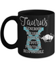 Taurus Zodiac Black Mug Gift Fun Novelty Birthday Coffee Cup