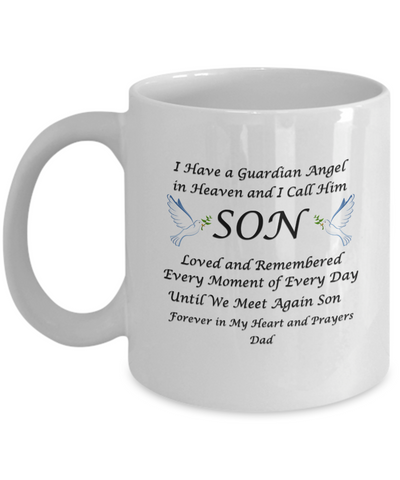 "Image of Gift for Bereaved Dad,Guardian Angel in Heaven I Call Him Son...Dad"" Remembrance Gift"