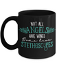 Nurse Black Mug Gift Not All Angels Have Wings Some Have Stethoscopes Novelty Birthday Cup