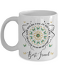 Best Friend In Loving Memory Mug Memorial Turquoise Butterfly Mandala God Holds You in His Arms Mandala Cup