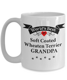 World's Best Soft Coated Wheaten Terrier Grandpa Cup Unique Wheaton Ceramic Gifts for Men