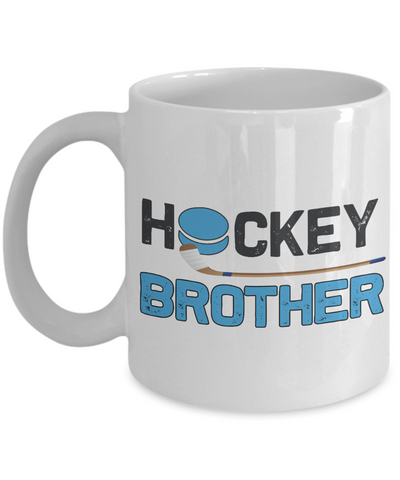 Hockey Brother Mug Gift Sibling Novelty Birthday Ceramic Coffee Cup