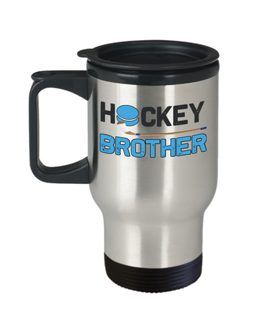 Hockey Brother Travel Mug Gift Sibling Novelty Birthday Coffee Cup