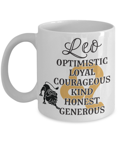 Image of Leo Zodiac Mug Gift Fun Novelty Birthday Coffee Cup