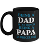 Love You Dad Black Mug Gift for Father's Day Papa Grandfather Birthday Coffee Cup