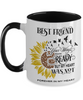 Best Friend Your Wings Were Ready Sunflower Mug In Loving Memory Two-Tone Coffee Cup