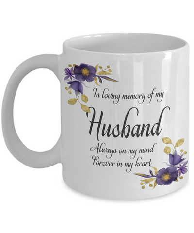 Image of In Loving Memory Husband Mug Sympathy Gift Remembrance Memorial Coffee Cup