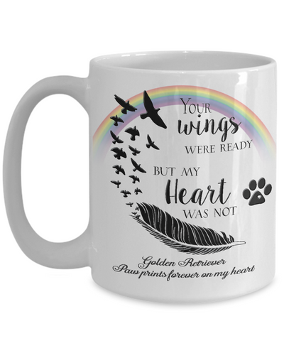 Image of Golden Retriever  Bereavement Memorial Gifts Your Wings Were Ready...