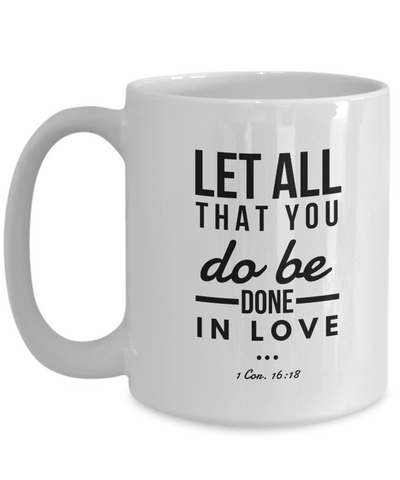 1 Corinthians 16:18 Bible Verse Faith Mug