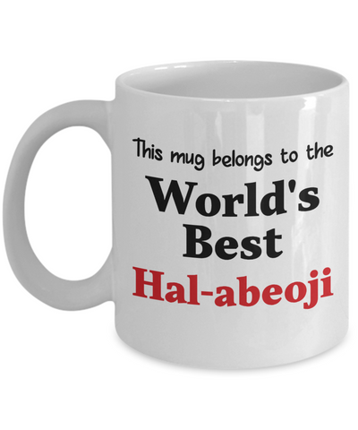 World's Best Hal-abeoji Mug Family Gift Korean Grandfather Novelty Birthday Thank You Appreciation Ceramic Coffee Cup