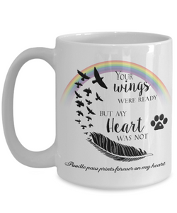 Poodle Bereavement Memorial Gifts Your Wings Were Ready...Poodle Remembrance Gift