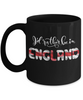 I'd Rather be in England Black Mug Expat English Gift Novelty Birthday Ceramic Coffee Cup