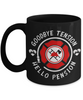 Firefighter Retirement Black Mug Gift Goodbye Tension Hello Pension Retire Happy Good Luck Novelty Cup