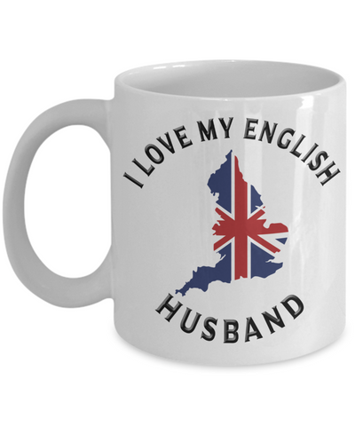 Image of I Love My English Husband Mug Novelty Birthday Gift Ceramic Coffee Cup